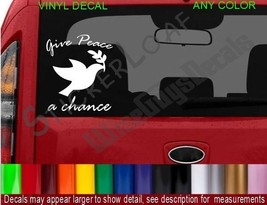 Peace DOVE Olive Branch Decal Hippie STICKER car decals stickers Religion - $7.52