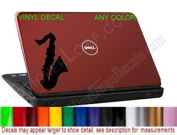 Saxophone Laptop Decal Sticker dell hp macbook Sax Music Jazz Rock Band - $8.47