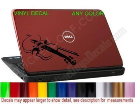 Violin Viola Laptop Decal Sticker dell hp pc macbook Cello Music Band Camp - $9.57