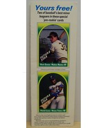 BBC magazine Future star insert baseball cards Ozzie Canseco Patrick Le... - $8.00