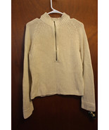 Liz Claiborne Pull-over 1/2 Zip Sweater Lt. Brown with Sparkles - Size L... - $9.99