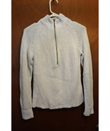 Liz Claiborne Pull-over 1/2 Zip Sweater Lt Blue with Sparkles - Size Lad... - $9.99