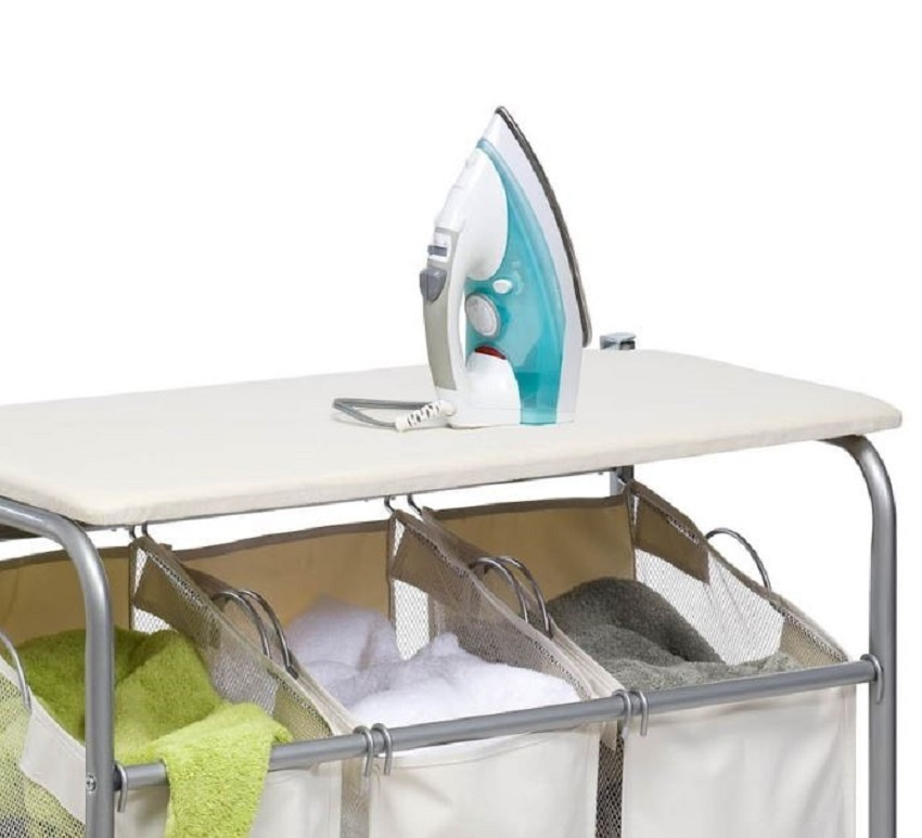 Ironing board and laundry center