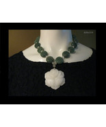 CARVED JADE NECKLACE - One of A Kind - FREE SHIPPING - $325.00