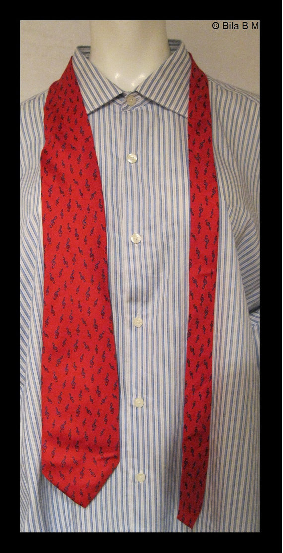 MUSIC All Silk Neck Tie - by Alynn Neckwear - Made in USA - FREE SHIPPING