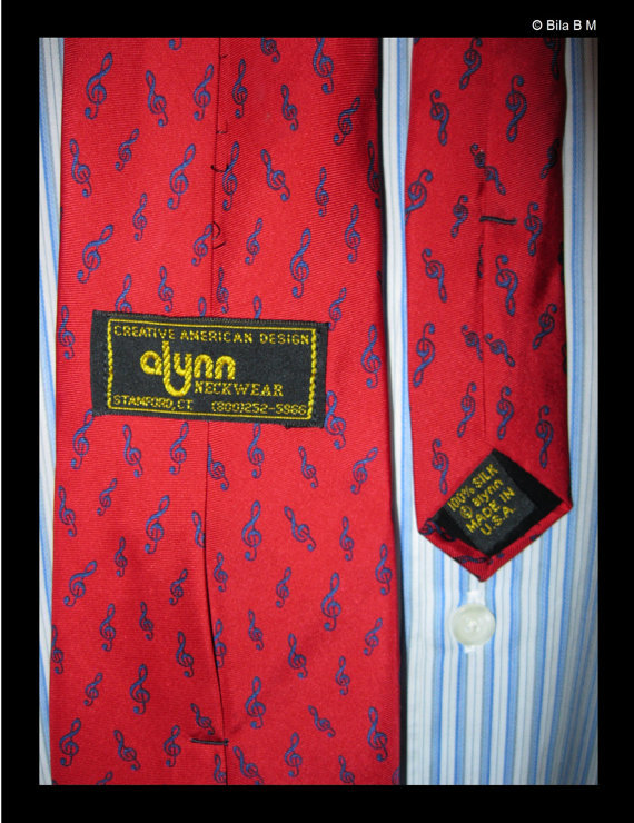 MUSIC All Silk Neck Tie - by Alynn Neckwear - Made in USA - FREE SHIPPING image 2