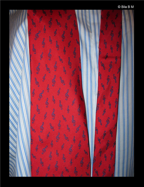MUSIC All Silk Neck Tie - by Alynn Neckwear - Made in USA - FREE SHIPPING image 3