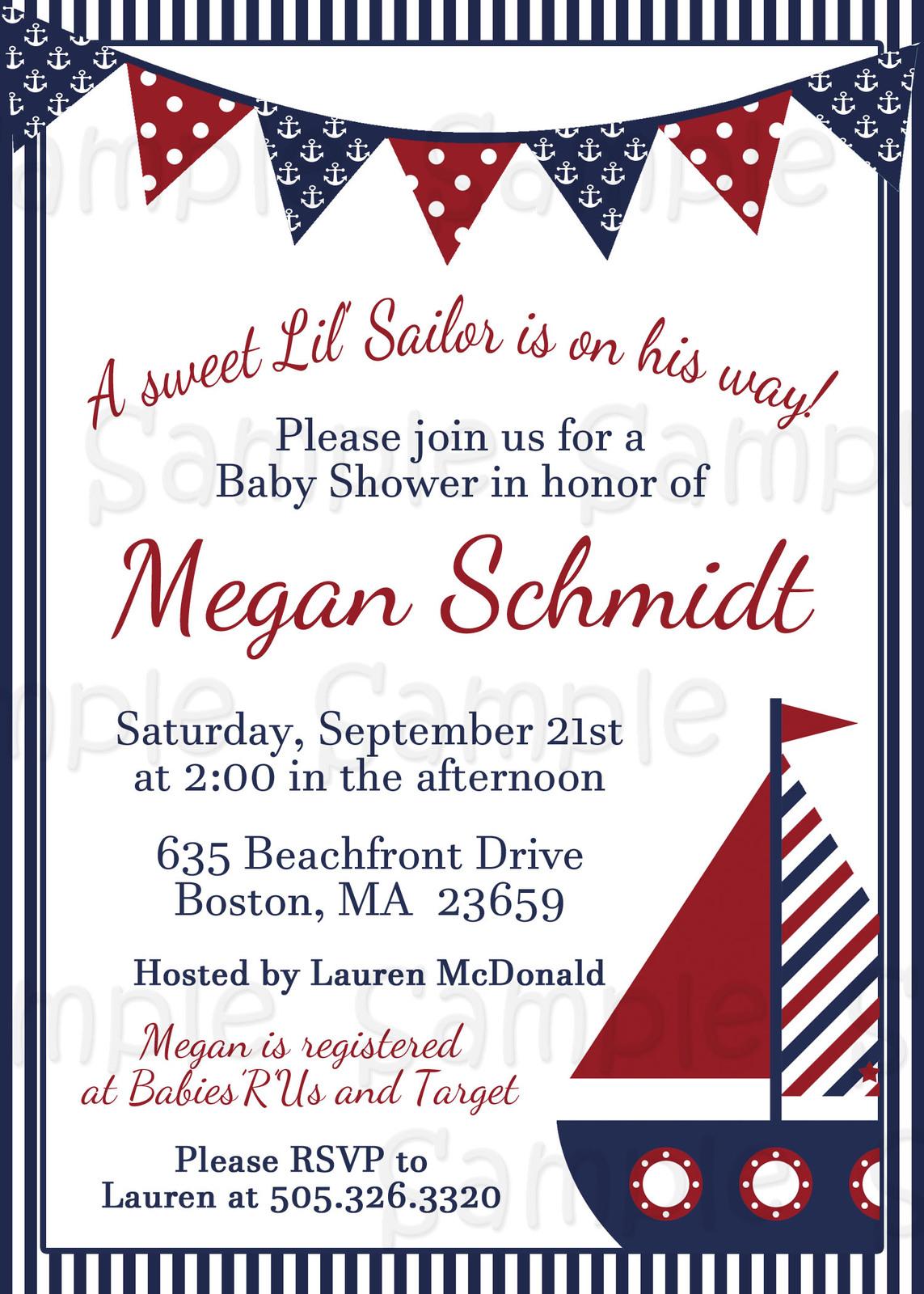 Little Sailor, Nautical, Custom Baby Shower and 50 similar items