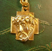 3D JESUS Necklace Vintage Icon Religious Men Women's Christian Jewelry - $95.00