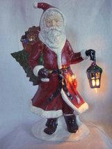 Large Ceramic Father Christmas Santa Statue Figure Lighted Lantern 20 In... - $89.95