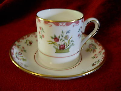 Wedgwood Bianco williamsburg demitassse  cup and saucer