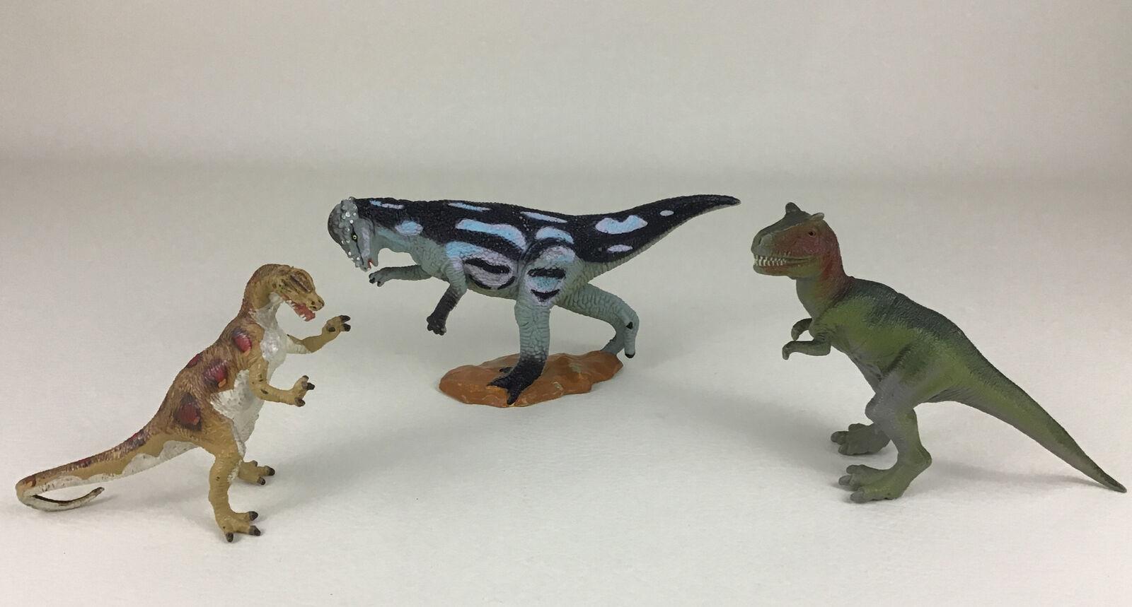 Dinosaur Lot Carnegie Safari LTD 3pc Lot Pachycephalosaurus Vintage Prehistoric - $22.23
