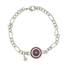 Captain America Figaro Shield Bracelet - $14.84