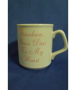 White New Grandma You re Dear to My Heart Coffee Mug  - $5.95