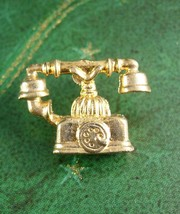 FRENCH Provincial Telephone Tie Tack Vintage lapel Pin Tele Communicatio... - $60.00