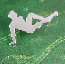 Male Figural NUDE Tie Tack Vintage Lapel Pin Ga... - $85.00