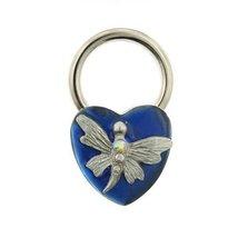 Blue Enamel Butterfly Heart Key Ring [Jewelry] - $19.80