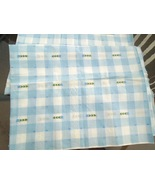 """2 1/2 Yds 36"""" W Light Blue and White Cotton Fabric-Embroidered Arrow Des... - $6.49"""