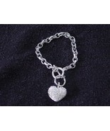 Heart Pendant bracelet With toggle clasp  BEST OFFERS WELCOMED MAKE AN O... - $9.49