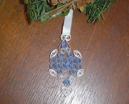 Paper Quill Blue Ornament- Handcrafted - $9.99