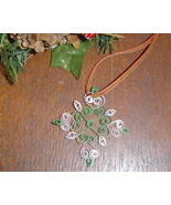 Paper Quill Snowflake Ornament Green Handcrafte... - $7.95