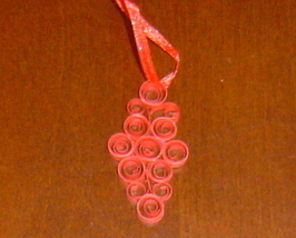 Paper Quilled Ornament- Handcrafted  - $9.99