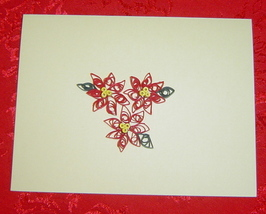 Handcrafted paper quill Christmas card set of 10 - $24.95