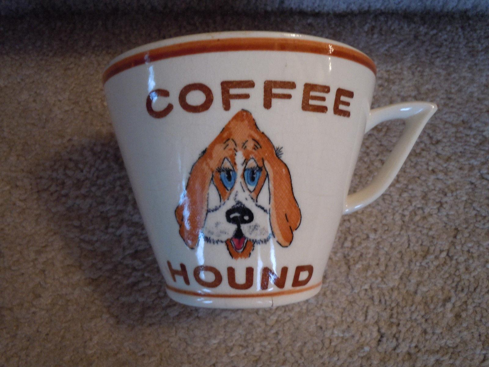 Vintage coffee hound mug