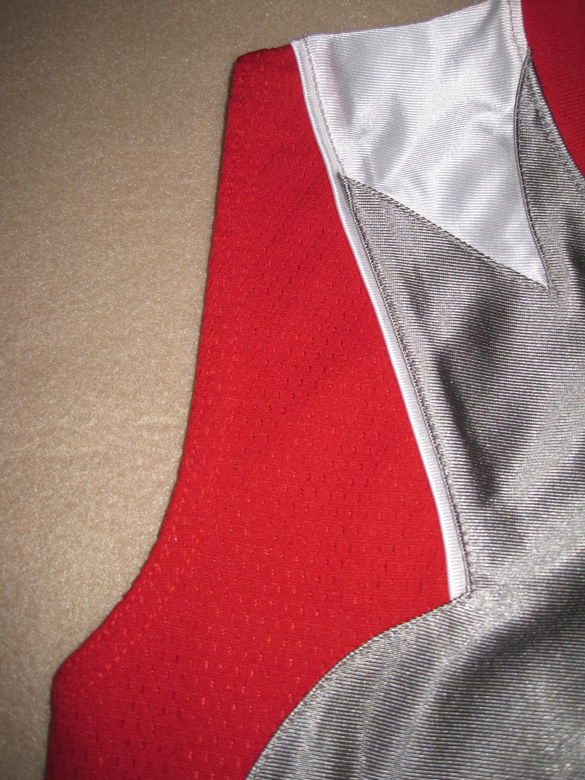 BOYS 6 - Nike - Flight Grey-Red-White BASKETBALL SPORTS JERSEY image 2
