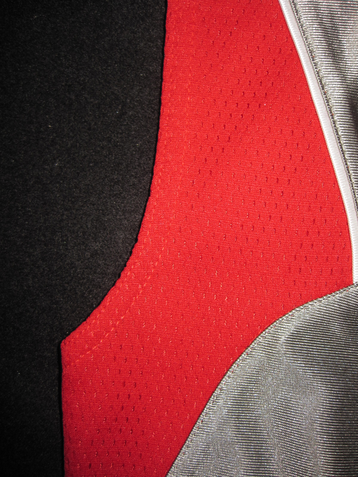 BOYS 6 - Nike - Flight Grey-Red-White BASKETBALL SPORTS JERSEY image 7