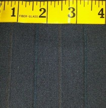 Super 130'S Italian Wool Suit fabric Blue Red Stripes 5 Yards - MSRP $780 - $88.99