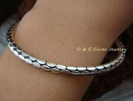 Sterling Silver Tradtional Womens Bangle SBB-287-DG - $36.65