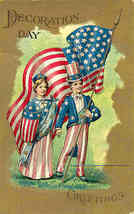Decoration Day Patriotic Vintage Post Card - $8.00