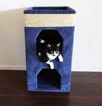 """DOUBLE CAT TOWER, """"5"""" COLORS TO CHOOSE - FREE SHIPPING IN THE UNITED STATES - £71.45 GBP"""