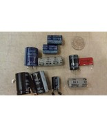 9V12 ASSORTED CAPACITORS: 8PCS, 100-2200MF, 25-200V, VERY GOOD CONDITION - $9.00