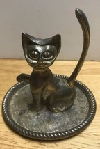 Vintage Seba Cat Silvertone Ring Holder Mid century modern - $25.00