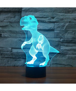 Dinosaur 3D Night Light 7 Color Change LED Desk Lamp Touch Room Decor Fo... - $15.99