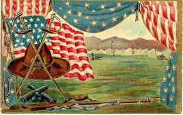 Memorial Day Greetings Patriotic Vintage Post Card - $8.00
