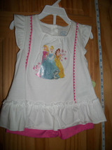 Disney Princesses Baby Clothes 24M Princess Blouse Outfit Top Pink Short... - $12.34