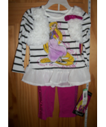 Disney Princesses Baby Clothes 2T Princess Rapunzel Toddler Pant Set Top... - $20.89