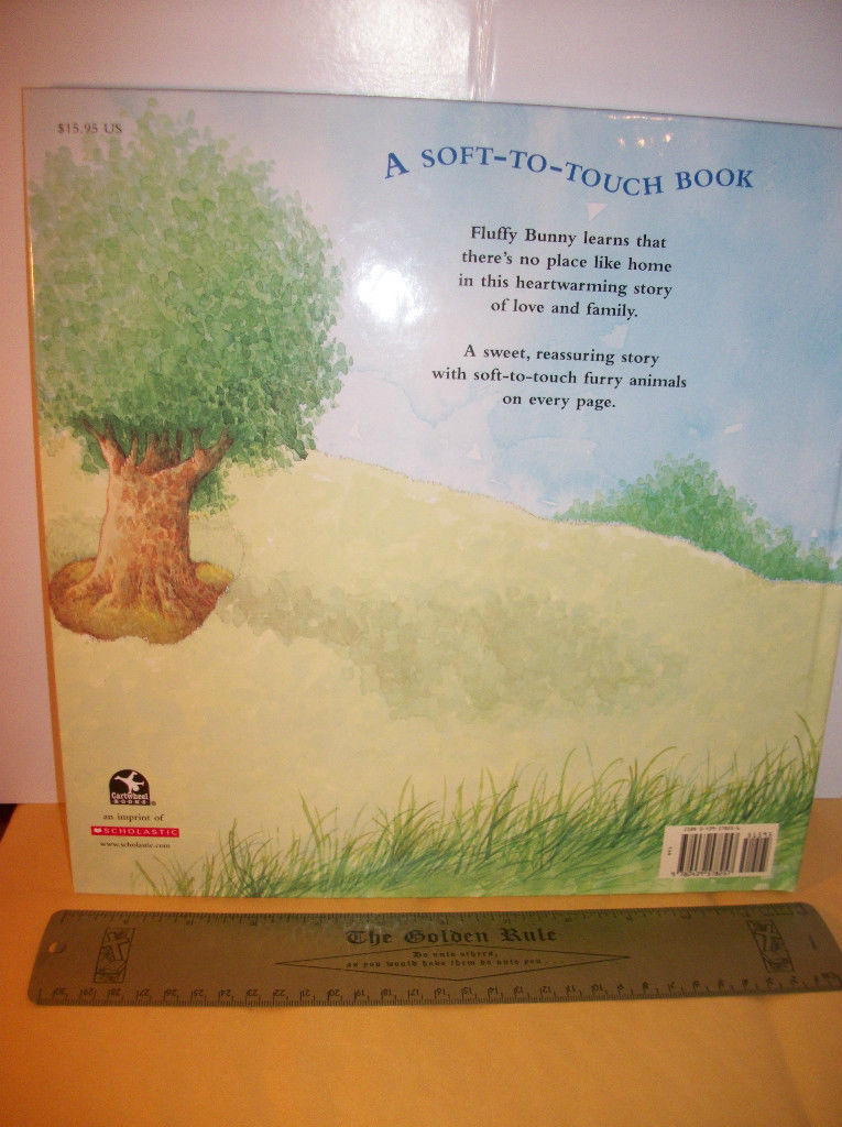 Scholastic Picture Book 2004 Fluffy Bunny Soft-To-Touch Feel And Read Baby Story