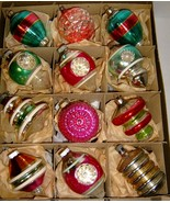 12 FABULOUS VINTAGE GLASS ORNAMENTS - Premier & Shiny Brite - $95.00