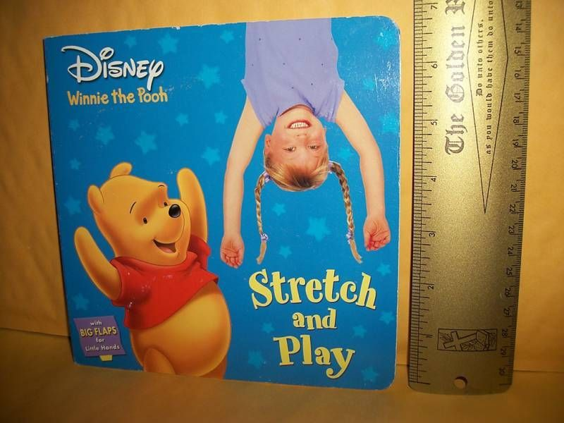 Disney Activity Board Book Winnie The Pooh Stretch and Play Interactive Flaps