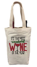It's the Most Wonderful Wine of the Year Wine Gift Bag, Christmas Wine G... - $14.99