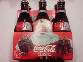1991 Coca Cola Seasons Greetings Commemorative 8 FL OZ Bottles With Case... - $29.99