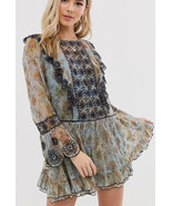 NWT FREE PEOPLE COUNTRY ROADS BOHO MINI DRESS SIZE XS XSMALL $198 - $65.20