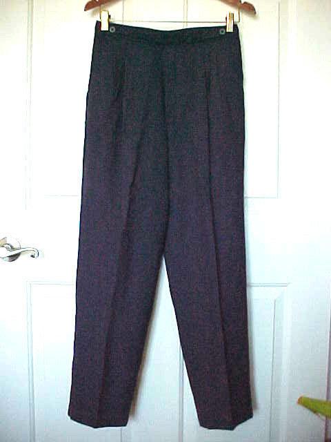 Women's Sz 12P Pants Navy Blue Petites by Fundamental Things Front Zip Poly Bld