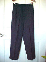 Women's Sz 12P Pants Navy Blue Petites by Fundamental Things Front Zip P... - $10.19