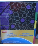 Staples 5-Tab Writable Dividers - Floral Patterns in 5 Different Colors ... - $6.92