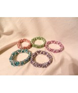 New Razzle n Dazzle Sparkle Rhinestone Stretch Beaded Bracelet Many Colors  - $5.99